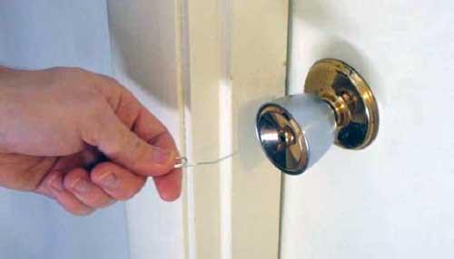 abrir cerradura con clip