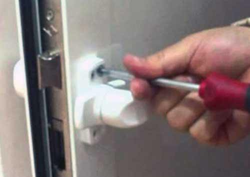 the door handle is loose