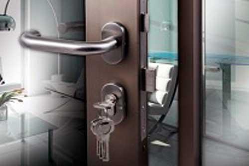 fasten the aluminum door lock