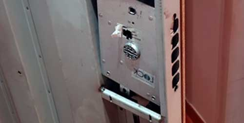 cambio de cerradura en puerta blindada