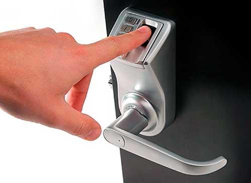 cerradura biometrica exterior