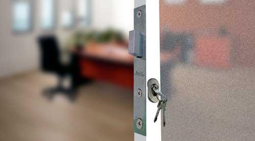 cerradura de seguridad para puerta de aluminio