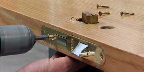 covers the door lock